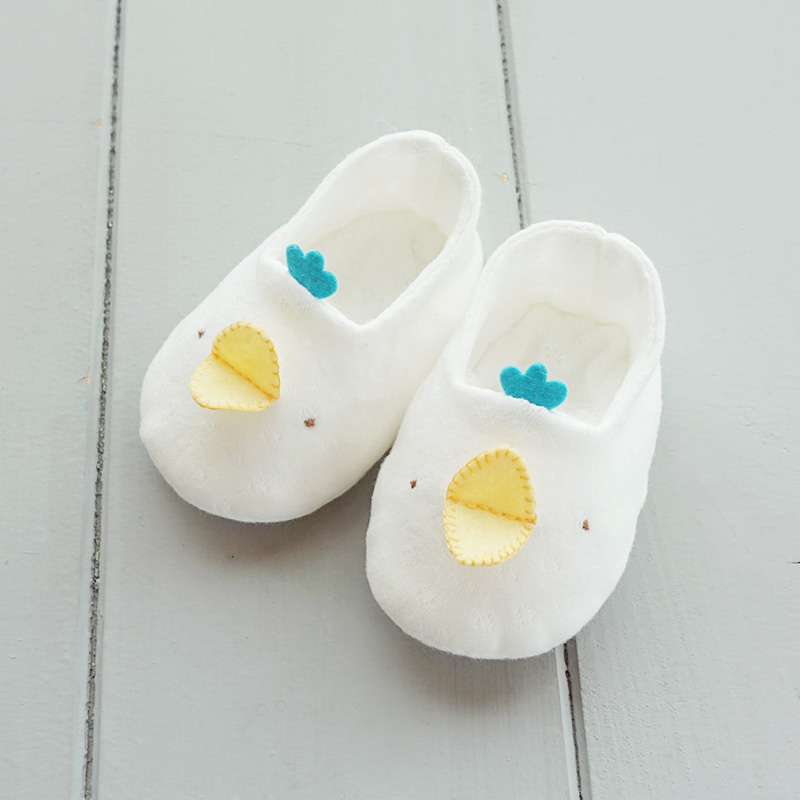 오가닉 삐약이 꼬까신 아기신발 만들기(백아이보리/핑크/블루/민트)태교바느질DIY