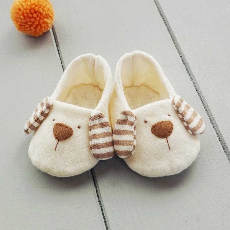 개띠해 오가닉 강아지 아기신발 만들기(DIY)(네츄럴/핑크/블루/백아이보리/브라운스트라이프)