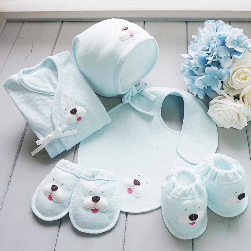(개띠해) 오가닉 강아지 아플리케 배냇저고리만들기5종유기농DIY세트(백아이보리/핑크/블루)