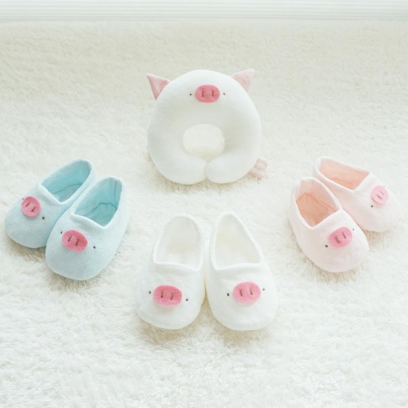 2019 돼지띠해 오가닉 돼지 아기신발 만들기(DIY)(백아이보리/핑크/블루)