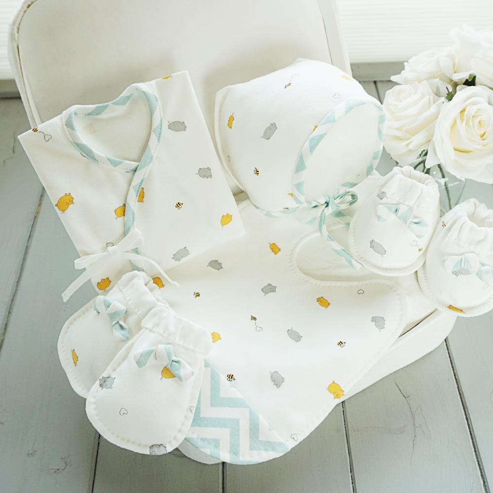 2019년 돼지띠해 오가닉 허니피그 배냇저고리 만들기 세트 태교바느질DIY(지그재그 색상선택)