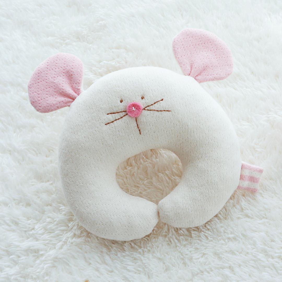 2020년 쥐띠 오가닉 마우스 딸랑이만들기 태교바느질DIY (핑크/옐로)