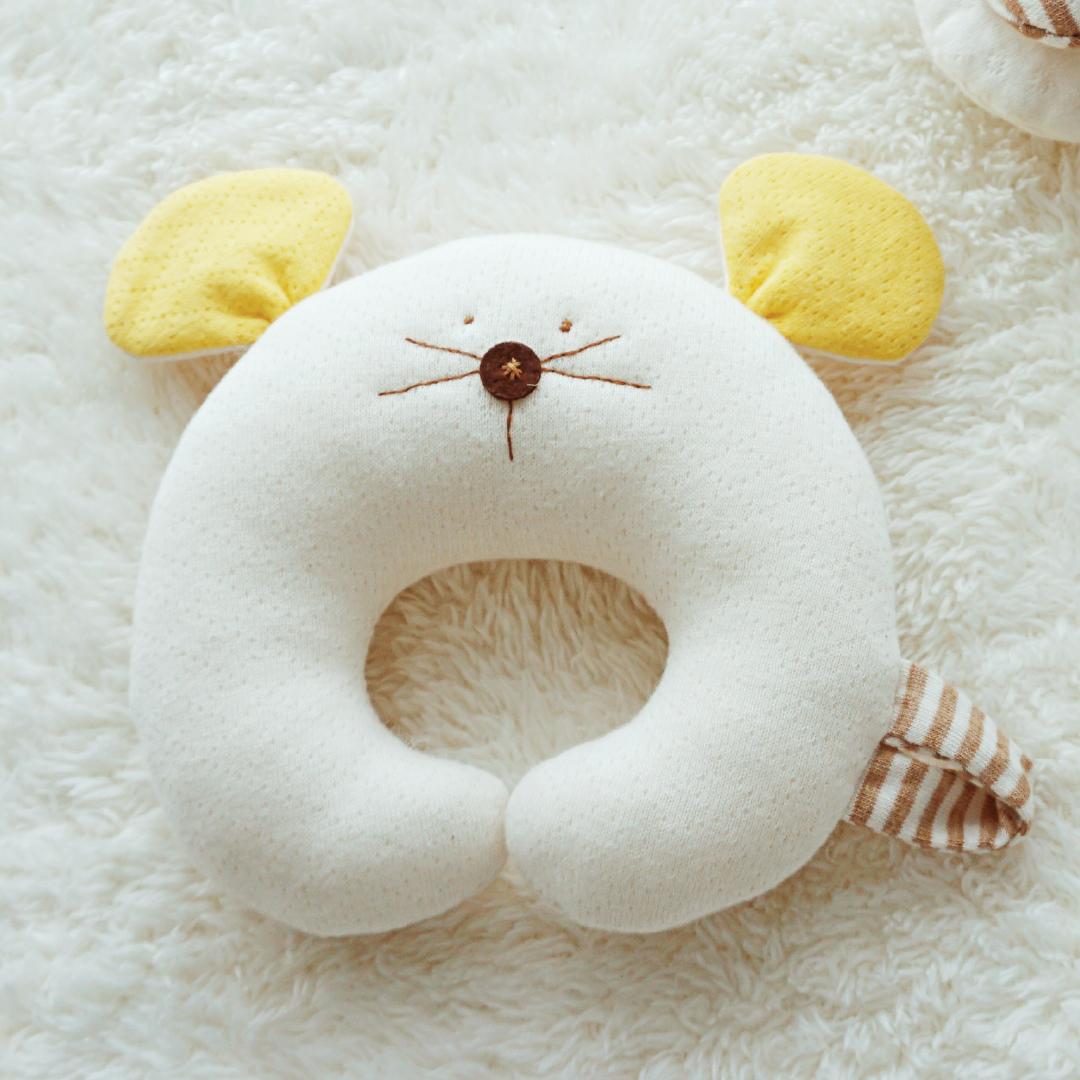 오가닉 마우스 딸랑이만들기 태교바느질DIY (핑크/옐로)