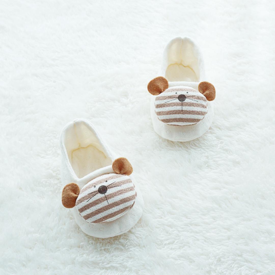 오가닉 마우스 아기신발만들기 DIY (백아이보리 / 핑크 / 블루 / 네츄럴)