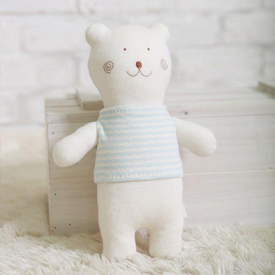 오가닉 곰도리 애착인형 만들기 태교바느질 diy