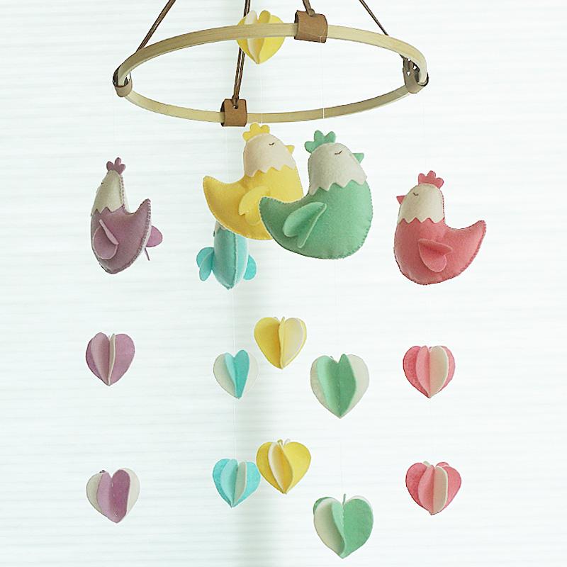 닭 펠트 칼라 모빌 만들기(DIY)