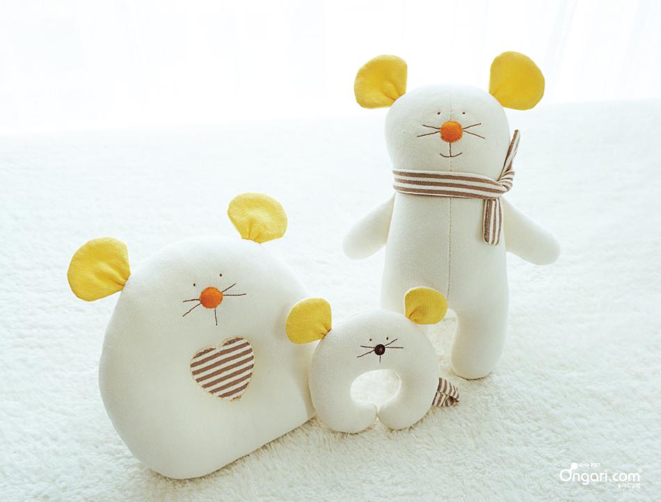 오가닉 쥐띠 마우스 애착인형 DIY 상세페이지 - 옐로