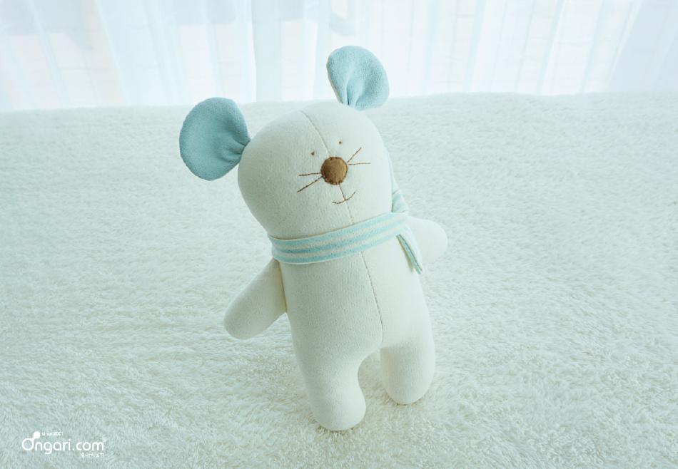 오가닉 쥐띠 마우스 애착인형 DIY 상세페이지 - 블루
