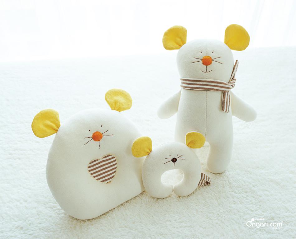 오가닉 쥐띠 마우스 짱구베개 DIY 상세페이지