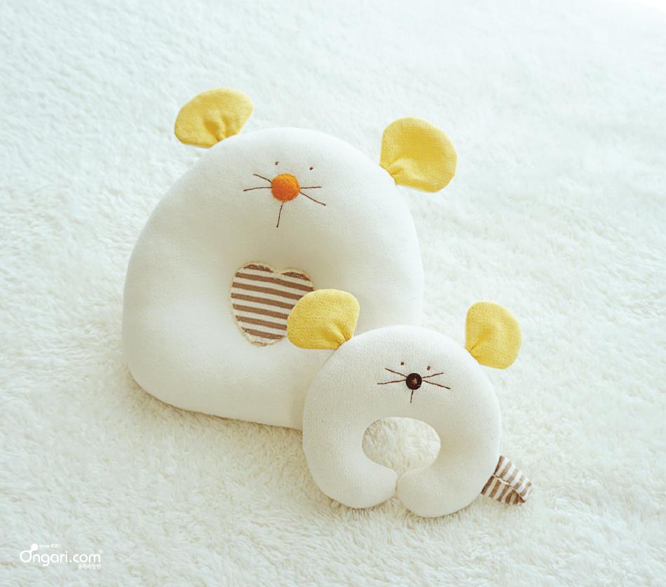 오가닉 쥐띠 마우스 딸랑이 DIY 상세페이지 - 옐로