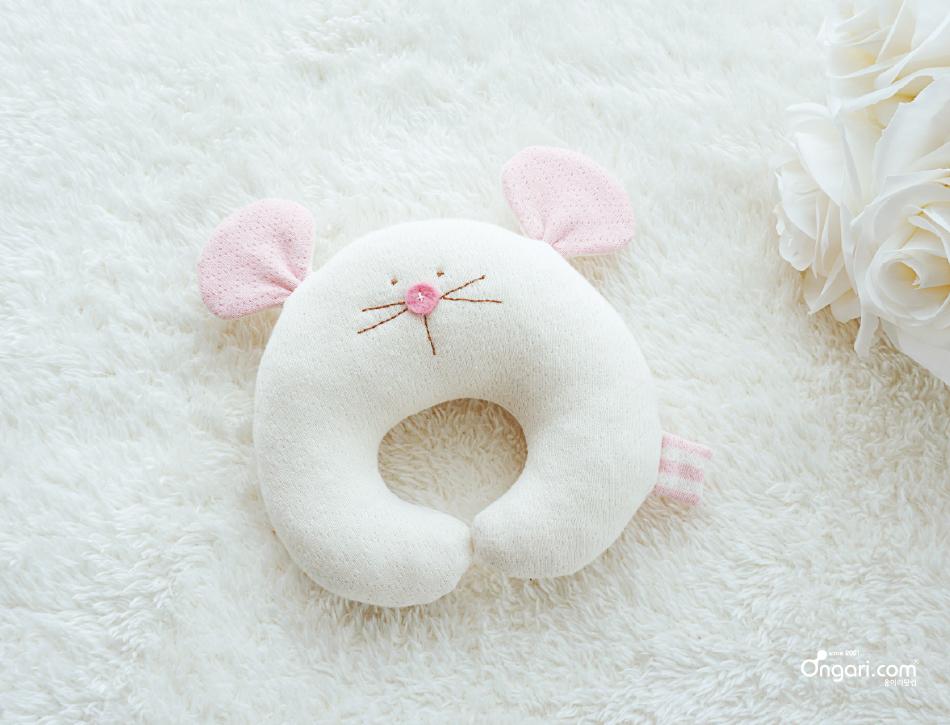 오가닉 쥐띠 마우스 딸랑이 DIY 상세페이지 - 분홍