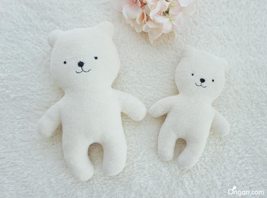 오가닉 테리 아기곰 애착인형 DIY - 타이틀 핑크